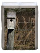 House On A Crooked Fence Post Duvet Cover