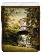 House On A Hill Duvet Cover