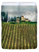House On A Hill-tuscany Duvet Cover