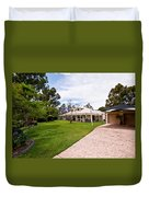 House On Land Duvet Cover