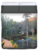 House On The Inlet Duvet Cover