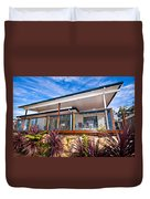 House With Deck Duvet Cover