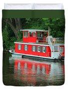 Houseboat On The Mississippi River Duvet Cover