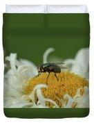 Housefly On Daisy Duvet Cover