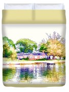 Houses By The Lake 1 Duvet Cover