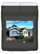 Houses In A Row Duvet Cover