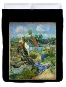 Houses In Auvers Duvet Cover