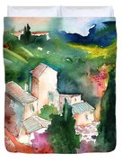 Houses In Montepulciano In Tuscany 01 Duvet Cover