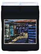 Houses In Sinamaica Lake - Venezuela Duvet Cover