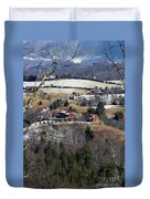 Houses On The Mountains Duvet Cover