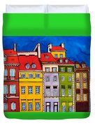 Houses In The Oldtown Of Warsaw Duvet Cover