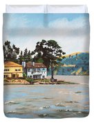 Houses Next To Water Duvet Cover