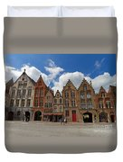 Houses Of Jan Van Eyck Square In Bruges Belgium Duvet Cover