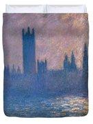 Houses Of Parliament - Sunlight Effect Duvet Cover