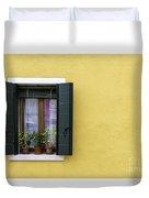 Houses Of Venice - Yellow  Duvet Cover