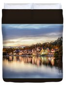 Houses On The Water Duvet Cover