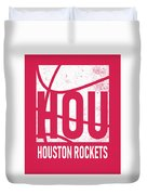 Houston Rockets City Poster Art Duvet Cover
