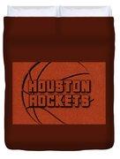 Houston Rockets Leather Art Duvet Cover