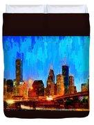 Houston Skyline 102 - Pa Duvet Cover