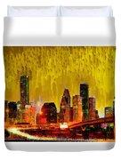 Houston Skyline 111 - Pa Duvet Cover