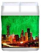 Houston Skyline 112 - Pa Duvet Cover