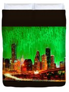 Houston Skyline 115 - Pa Duvet Cover