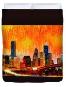 Houston Skyline 119 - Pa Duvet Cover
