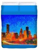Houston Skyline 130 - Pa Duvet Cover
