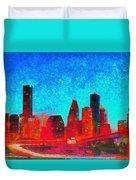 Houston Skyline 131 - Pa Duvet Cover