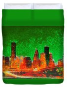 Houston Skyline 133 - Pa Duvet Cover