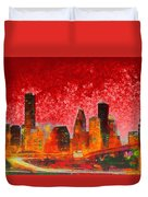 Houston Skyline 134 - Pa Duvet Cover