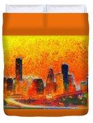 Houston Skyline 135 - Pa Duvet Cover