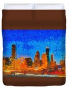 Houston Skyline 40 - Pa Duvet Cover