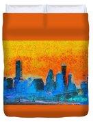 Houston Skyline 41 - Pa Duvet Cover