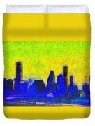 Houston Skyline 42 - Pa Duvet Cover