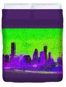Houston Skyline 43 - Pa Duvet Cover