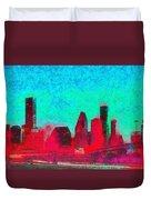 Houston Skyline 44 - Pa Duvet Cover
