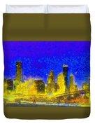 Houston Skyline 45 - Pa Duvet Cover