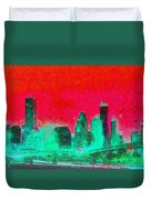 Houston Skyline 47 - Pa Duvet Cover