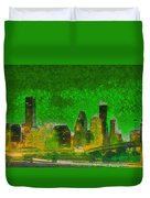 Houston Skyline 49 - Pa Duvet Cover
