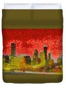 Houston Skyline 50 - Pa Duvet Cover