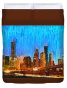 Houston Skyline 80 - Pa Duvet Cover