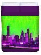 Houston Skyline 85 - Pa Duvet Cover