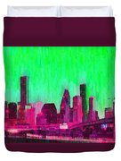 Houston Skyline 86 - Pa Duvet Cover