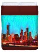 Houston Skyline 87 - Pa Duvet Cover