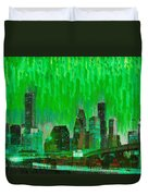 Houston Skyline 96 - Pa Duvet Cover