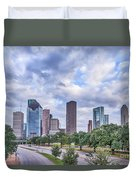 Houston Skyline View Duvet Cover