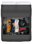 Houston Sports Teams 2 Duvet Cover