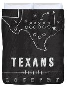 Houston Texans Art - Nfl Football Wall Print Duvet Cover