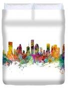 Houston Texas Skyline Panoramic Duvet Cover